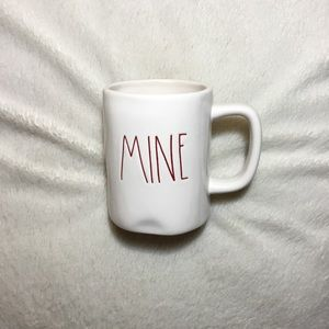 Rae Dunn Dining - Rae Dunn Dark Red LL Mine Valentine Mug NWT New
